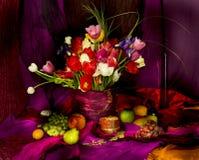 Stilleben med blommor Arkivbild