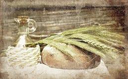 Stilleben med bröd Arkivfoton