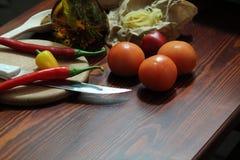 Stilleben med chili Royaltyfri Fotografi