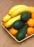 Stilleben med closeupen för tropiska frukter Royaltyfri Bild