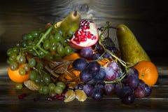 Stilleben med frukt Arkivbild