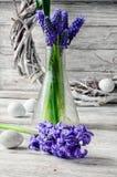Stilleben med hyacinter Fotografering för Bildbyråer