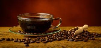 Stilleben med kaffe Arkivfoton