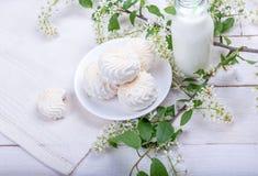 Stilleben med marshmallower Arkivbilder