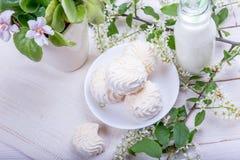 Stilleben med marshmallower Fotografering för Bildbyråer
