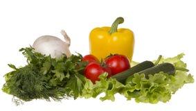 Stilleben med nya grönsaker Arkivbilder