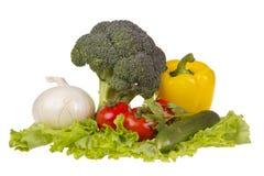 Stilleben med nya grönsaker Royaltyfri Bild
