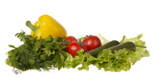 Stilleben med nya grönsaker Royaltyfria Foton