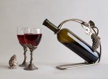 Stilleben med vin Arkivbild