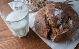 Stilleben på ämnet av bröd, arkivbild