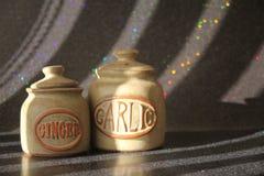 StillebenGinger Garlic _0060 Arkivfoto