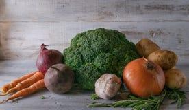 Stillebengrönsaker framläggas fotografering för bildbyråer