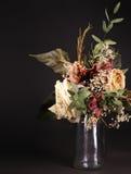 Stilleven: boeket van droge bloemen Stock Afbeelding