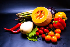 Stilleven - geassorteerde groenten Royalty-vrije Stock Afbeelding