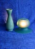 Stilleven in groen en blauw 1 stock afbeeldingen