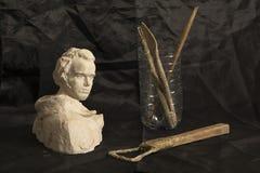 Stilleven 1 hulpmiddelen van de beeldhouwer stock foto