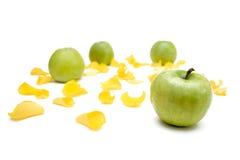 Stilleven met appel Stock Fotografie