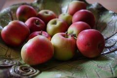Stilleven met appelen stock afbeeldingen