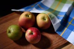 Stilleven met appelen Royalty-vrije Stock Foto's