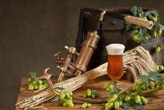Stilleven met bier Royalty-vrije Stock Afbeelding
