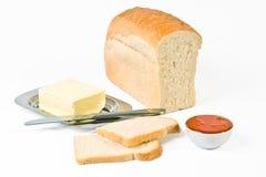 Stilleven met brood Stock Afbeeldingen