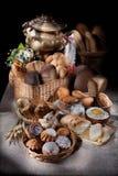Stilleven met brood Stock Fotografie