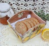 Stilleven met brood Stock Foto's