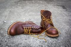 Stilleven met bruine man schoenen Royalty-vrije Stock Afbeelding
