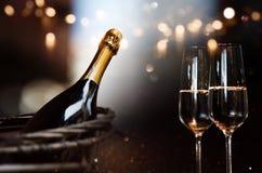 Stilleven met champagne royalty-vrije stock afbeelding