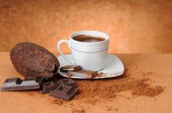 Stilleven met chocolade royalty-vrije stock afbeeldingen