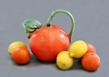 Stilleven met Citroenen & Sinaasappelen. Stock Foto's