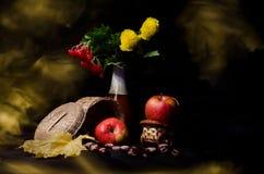 Stilleven met de herfstgroenten en vruchten Stock Foto's