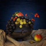 Stilleven met druiven en doornen Royalty-vrije Stock Afbeeldingen