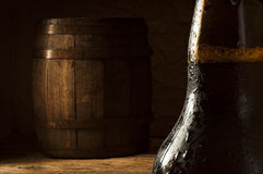 Stilleven met een vaatje bier Stock Afbeelding