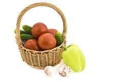 Stilleven met groenten. Royalty-vrije Stock Foto's