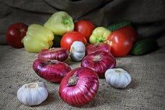 Stilleven met groenten Stock Fotografie
