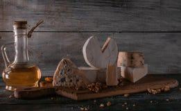 Stilleven met kaas stock fotografie