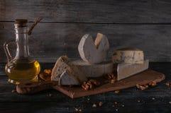 Stilleven met kaas stock afbeelding