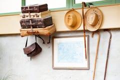 Stilleven met koffers Stock Afbeeldingen