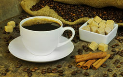 Stilleven met koffie Stock Afbeeldingen