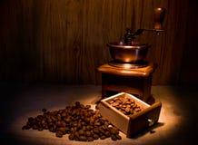 Stilleven met koffie en kaars Royalty-vrije Stock Afbeeldingen