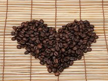 Stilleven met koffiebonen, een Turk en een Kop van koffie Royalty-vrije Stock Afbeeldingen
