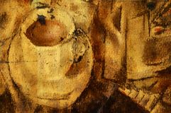 Stilleven met kop van koffie Royalty-vrije Stock Afbeeldingen