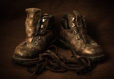 Stilleven met laarzen Stock Afbeeldingen