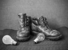 Stilleven met laarzen Royalty-vrije Stock Fotografie