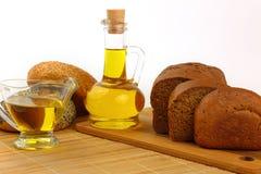 Stilleven met olijfolie Stock Foto's