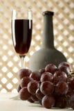 Stilleven met oude rode wijn Royalty-vrije Stock Afbeeldingen