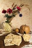 Stilleven met ravioli en kaas royalty-vrije stock afbeelding