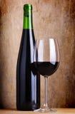 Stilleven met rode wijn Stock Afbeeldingen
