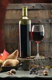 Stilleven met rode wijn Stock Fotografie
